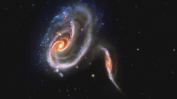 NASA finds 'battling galaxies' in deep space