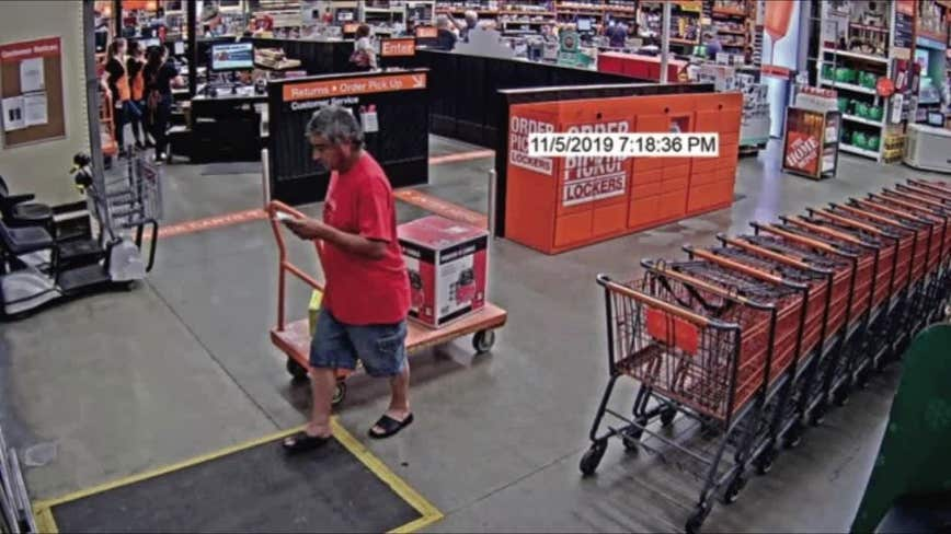Thief targets Valrico Home Depot store