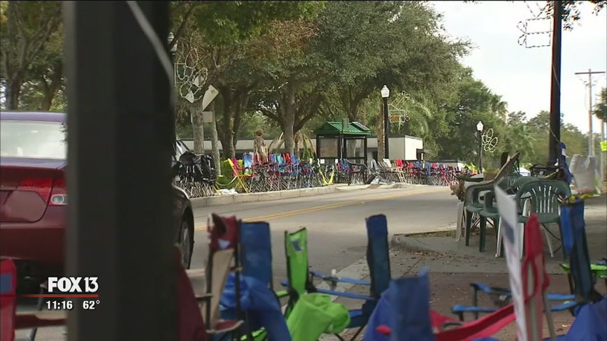 No chairs allowed until day of Lakeland Christmas parade