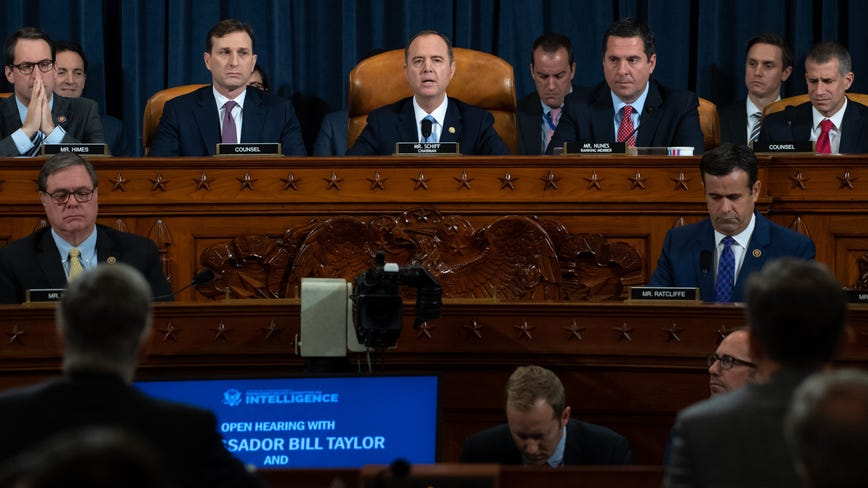 'Solemn undertaking': Historic Trump impeachment hearing underway with first witnesses