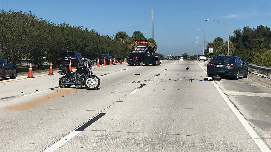 Motorcyclist injured in crash after car fails to slow for traffic, FHP says