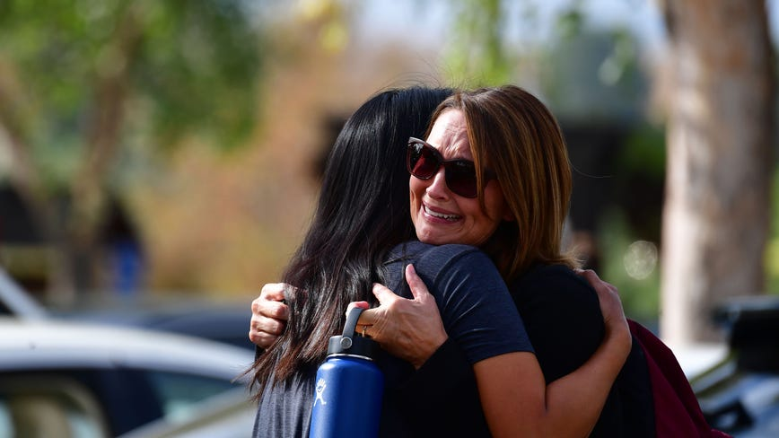 California school shooting leaves 2 teens dead, 3 injured, with suspect in 'grave condition,' authorities say
