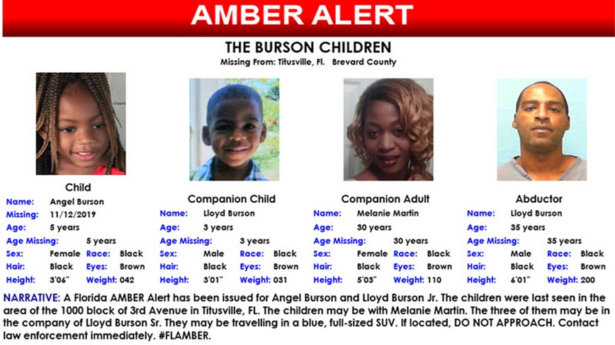 Amber Alert: : 'Armed and dangerous' Florida father abducts his 2 children, their mother, police say