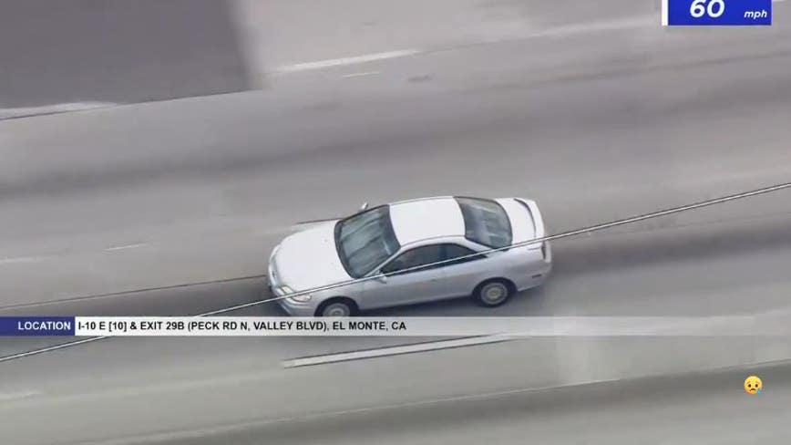 WATCH: Police pursue driver who collided with CHP patrol car