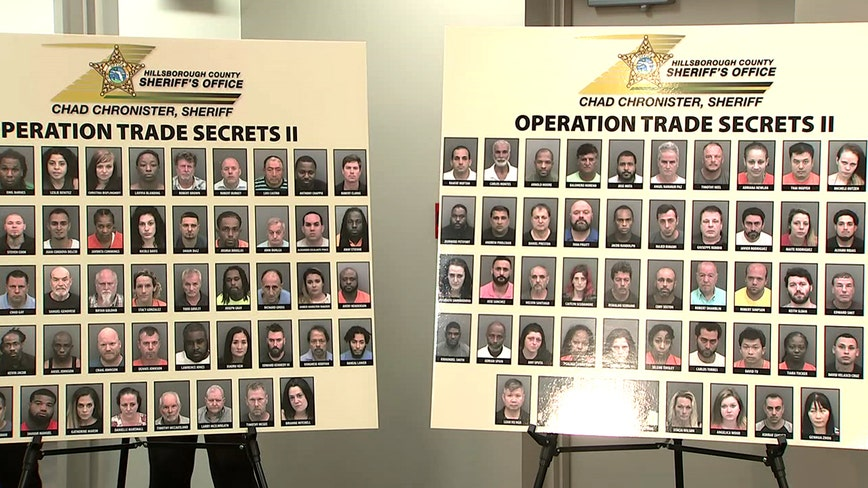 Over 100 arrested during undercover human trafficking operation in Hillsborough County