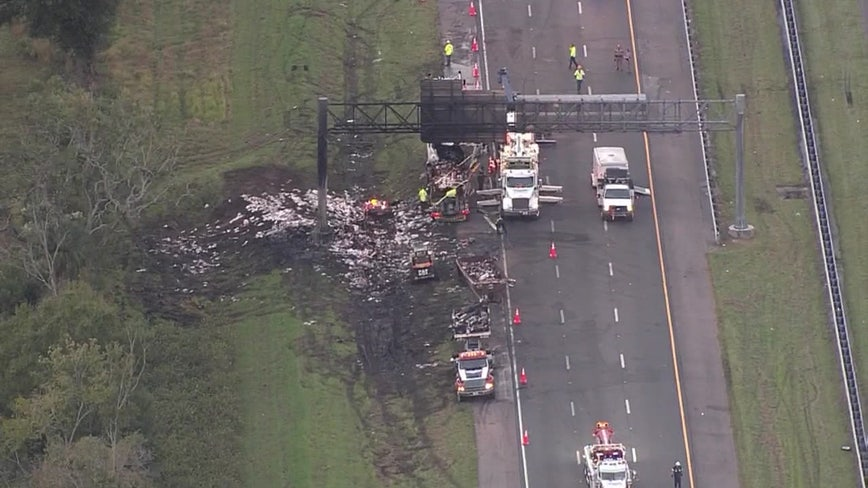 Section of NB I-75 near Bruce B. Downs remains closed as troopers investigate deadly crash