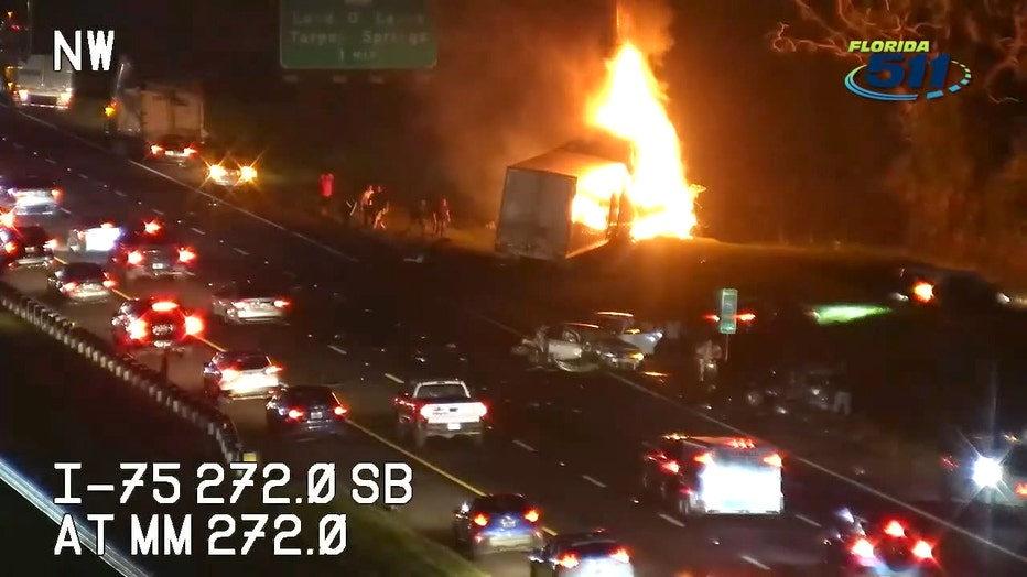 Deadly, fiery crash on I-75 claimed two lives, injured six