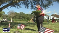 Hundreds of people placed wreaths on veteran's graves in Hudson