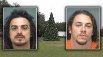 Largo police arrest 2 men for climbing 35 ft. Christmas tree, breaking ornaments