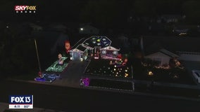 Drone Zone: Streamside Drive Christmas lights