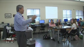 Tampa Prep engineering teacher awarded for innovation in education