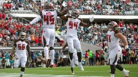 Buccaneers turn Foles' turnovers into touchdowns, beat Jags 28-11