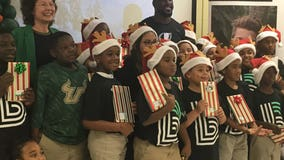 Christmas came early for students at Pizzo Elementary Tuesday afternoon