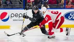 Point scored decided goal, TB Lightning beat Redwings 2-1