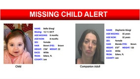 Missing child alert issued for Lee County infant