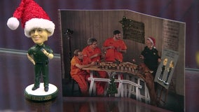 Sheriff Judd -- and bobbleheads -- star in this year's Christmas card