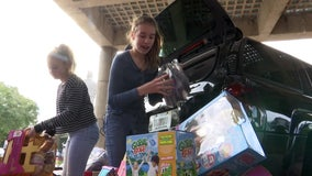Young former Shriners patient returns to hospital -- with gifts