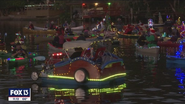 Hillsborough River lights up for 20th annual holiday boat parade