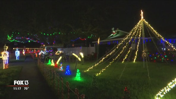 Largo neighborhood's elaborate Christmas lights bring in donations for hospice