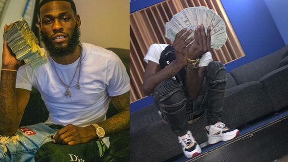 Social media photos show bank robbery suspect posing with wads of cash before arrest