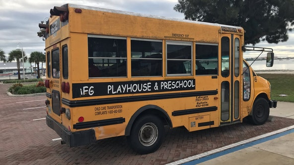 Police: Mother left 3 young children alone in school bus overnight in parking lot