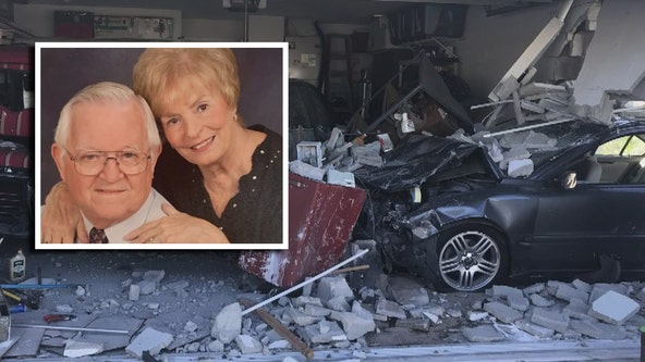 Widow reflects on late husband's messy garage after car crashes into home