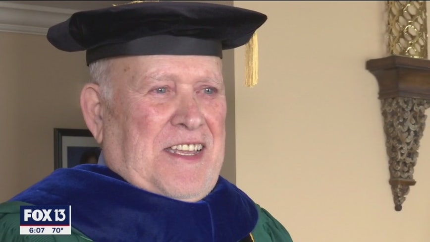 Grandfather, 81, graduating from USF
