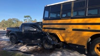 One dead, several children injured in crash with school bus in Hernando County