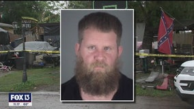Man accused of sexual battery set house on fire when deputies tried to arrest him