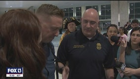 Tampa officer returns from Middle East deployment, receives promotion to lieutenant