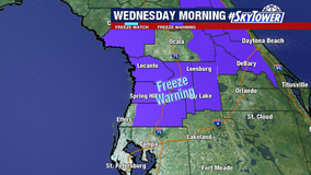 Forecast: Freeze warning issued ahead of coldest night so far this season