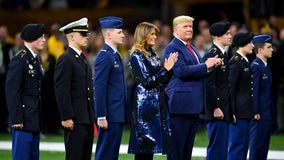President Trump greeted with loud cheers at LSU, Clemson game