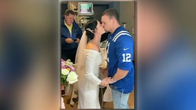 Couple ties the knot in an ICU so father of the bride could attend the ceremony