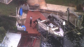 Docked boat destroyed by fire, owner seriously injured in New Port Richey