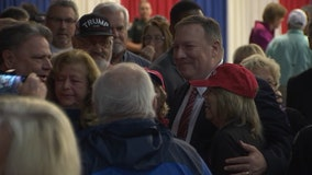 Secretary of State Mike Pompeo rallies Trump supporters in Bushnell