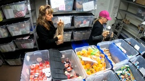 Non-profit gives food baskets to kids of struggling families