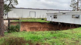 Sinkhole opens under Tallahassee mobile home park