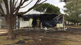 Explosion reported at Brooksville mobile home fire