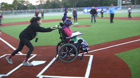 Buddy Baseball has a brand-new, synthetic turf for players with special needs