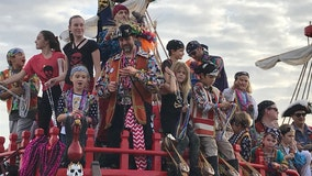 Thousands of tiny pirates invade Tampa Bay for the 2020 Children's Gasparilla Parade