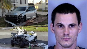 Crime spree: Suspect injures elderly woman on golf cart, vandalizes church, plants tree
