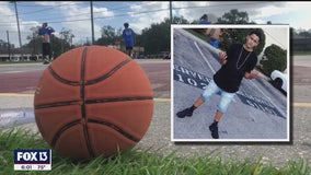 Family honors teen killed in deputy crash with basketball game