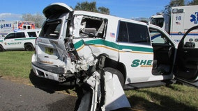 Move over: Driver crashes into Manatee County deputy's parked vehicle