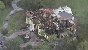 Million-dollar mansion in Oldsmar gutted by early morning fire