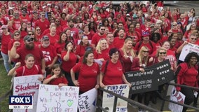 Teachers turn Tallahassee red to demand education funding
