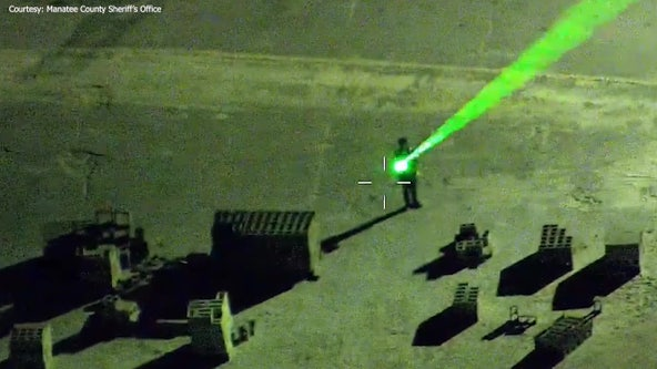 Manatee County deputies arrest man pointing lasers at pilots