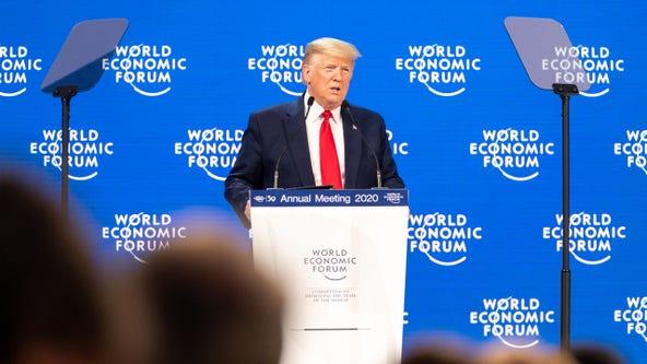 Trump lauds US economy at Davos forum, slams impeachment