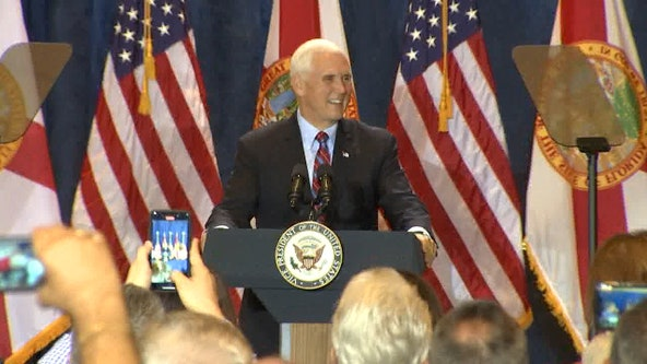 Vice President Mike Pence makes campaign stop in Tampa