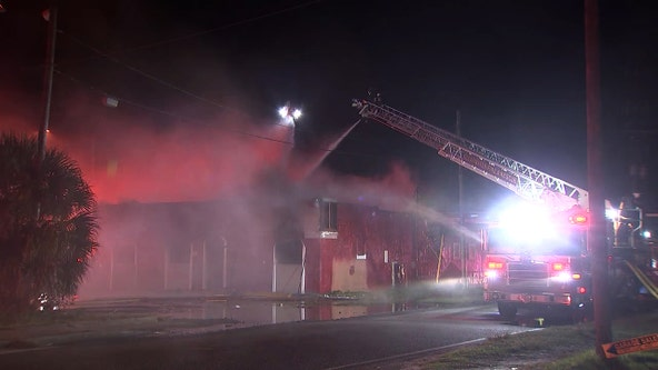 Vacant building in Clearwater catches fire