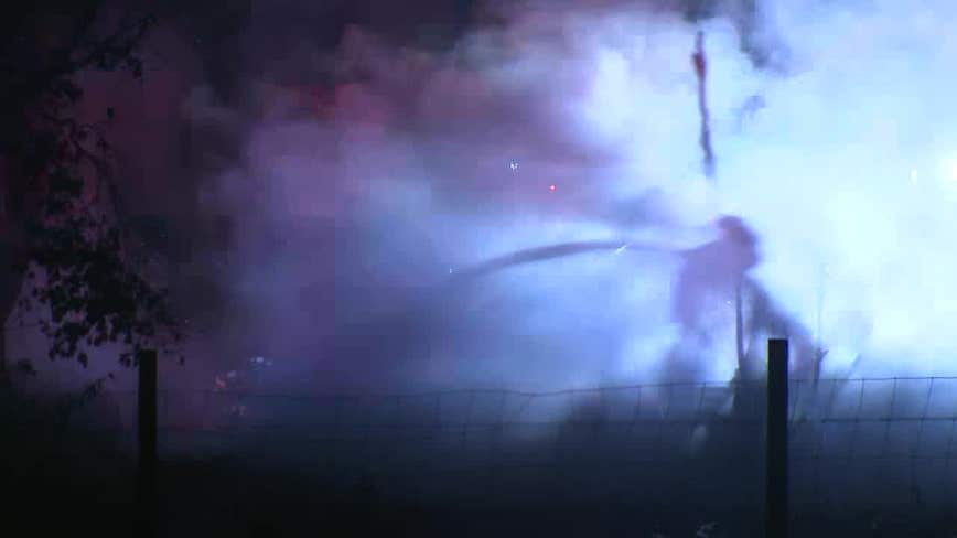 Firefighters battle house fire in Plant City